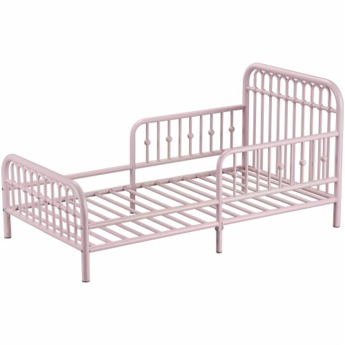 Monarch Hill Ivy Metal Toddler Bed, Pink Perspective: bottom