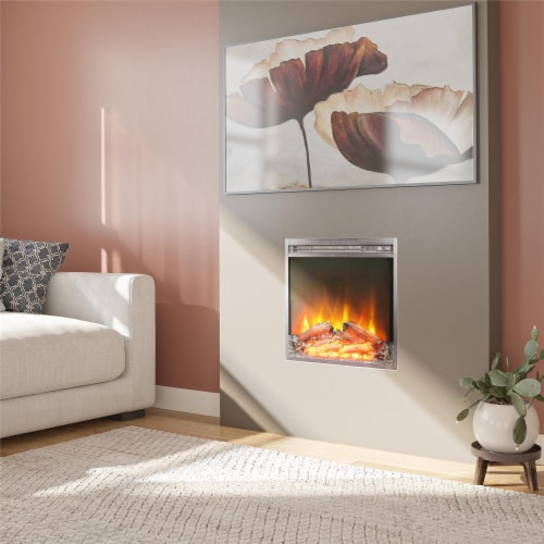 Ameriwood Home 18  x 18  Glass Front Electric Fireplace Insert, Black Perspective: bottom