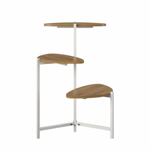 Tallulah Plant Stand, Walnut/White Perspective: bottom