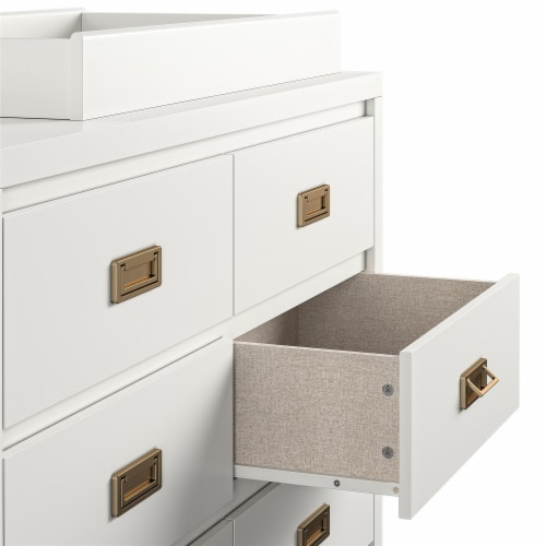 Monarch Hill Haven 6 Drawer White Changing Dresser Perspective: bottom