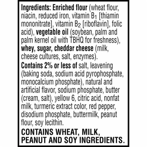 Keebler Cheese & Cheddar Sandwich Crackers Perspective: bottom