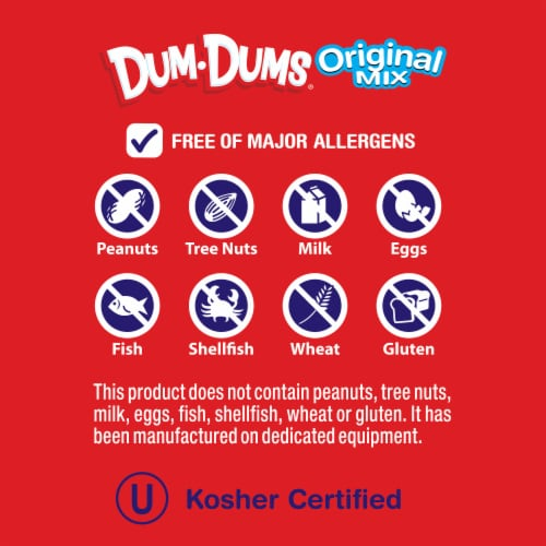 Dum Dums Original Assorted Flavor Lollipops Perspective: bottom