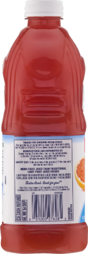 Ocean Spray Light 50 Ruby Red Grapefruit Juice Drink Perspective: bottom