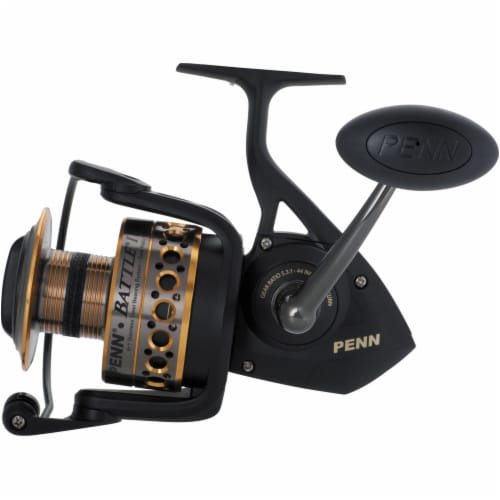 Penn BTLII8000102H Battle II HT100 Saltwater Spinning Fishing Reel and Rod Combo Perspective: bottom