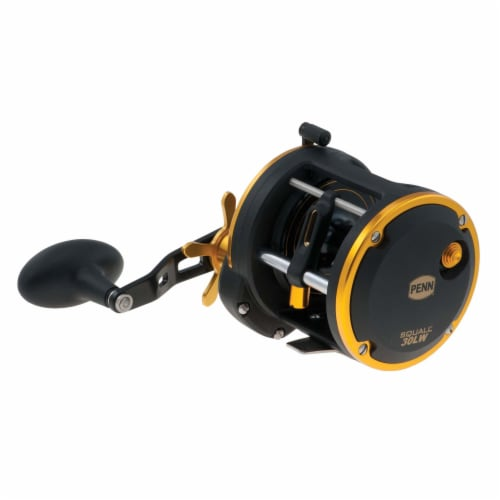 Penn SQL30LW Squall Levelwind Saltwater Fish Trolling Fishing Reel, Black & Gold Perspective: bottom