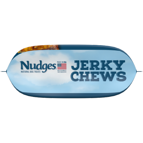 Nudges Natural Chicken Jerky Chews Dog Treats Perspective: bottom