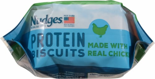 Nudges Protein Biscuits Chicken Dog Treats Perspective: bottom