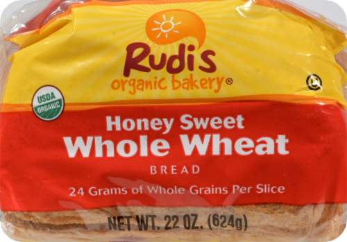 Rudi's Organic Honey Sweet Whole Wheat Bread Perspective: bottom