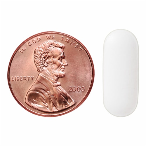 Nature Made® 600mg Calcium Tablets Perspective: bottom