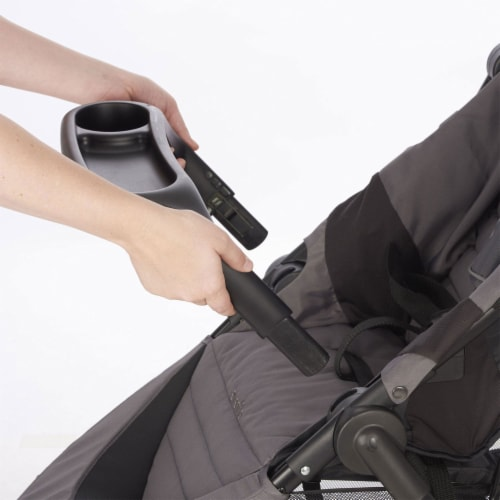 Evenflo Folio3 Stroller Jogger Travel System w/ LiteMax 35 Car Seat, Avenue Gray Perspective: bottom