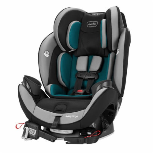 Evenflo EveryStage DLX Rear-Facing Convertible Car and Booster Seat, Reef Blue Perspective: bottom