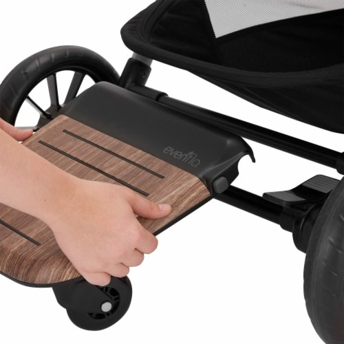 Evenflo Stroller Stand and Ride Rider Board Accessory Attachment Only, Wood Perspective: bottom