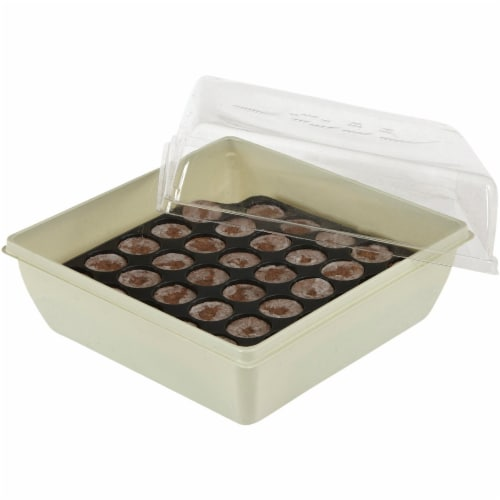 Jiffy 34-Cell 11 In. x 11 In. Self Watering Greenhouse Seed Starter Kit T34H Perspective: bottom
