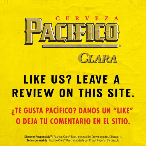 Pacifico Clara Mexican Lager Beer Perspective: bottom