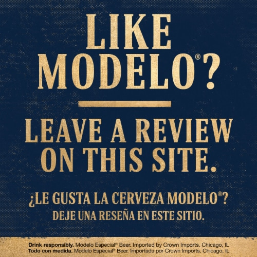 Modelo Especial Mexican Lager Beer Perspective: bottom