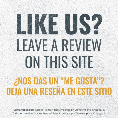 Corona Premier Mexican Lager Beer Perspective: bottom