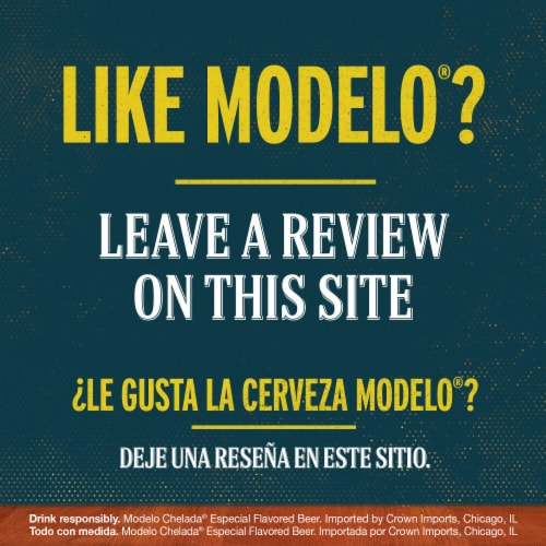 Modelo Chelada Limon y Sal Mexican Import Beer Perspective: bottom