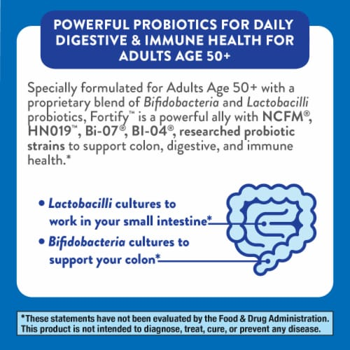 Nature's Way Everyday Care Probiotics 50+ Capsules Perspective: bottom