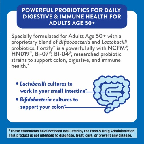 Nature's Way Primadohhilus Fortify Probiotics 50+ Capsules Perspective: bottom