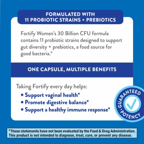 Nature's Way Fortify Women's Probiotic Veg Capsules Perspective: bottom