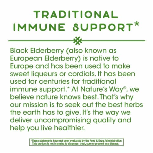 Nature's Way Elderberry Immune Support Capsules 1150mg Perspective: bottom