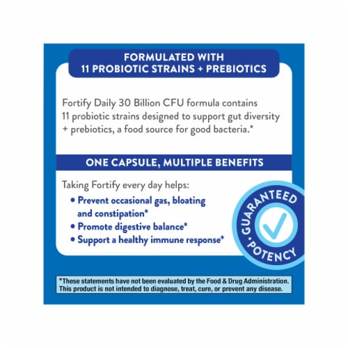 Nature's Way Fortify Daily Probiotic +Prebiotics Capsules Perspective: bottom