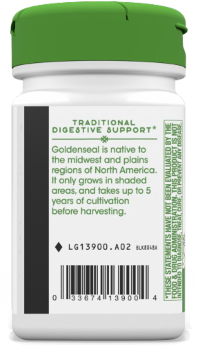 Nature's Way Goldenseal Root Capsules Perspective: bottom