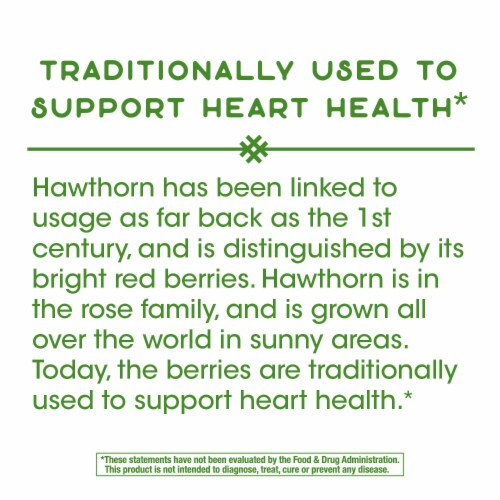 Nature's Way Hawthorn Berries Capsules 510 mg Perspective: bottom