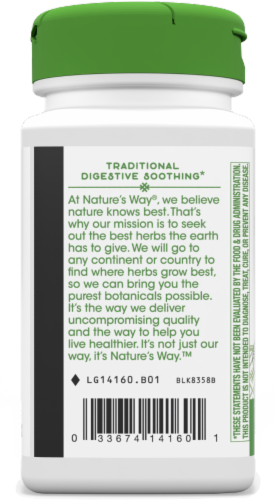 Nature's Way® Peppermint Leaves Capsules 400 mg Perspective: bottom