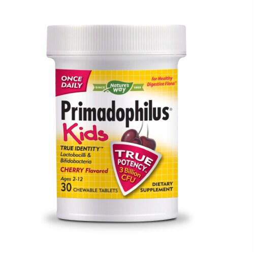 Nature's Way Primadophilus Kids Cherry Flavored Chewable Tablets Perspective: bottom
