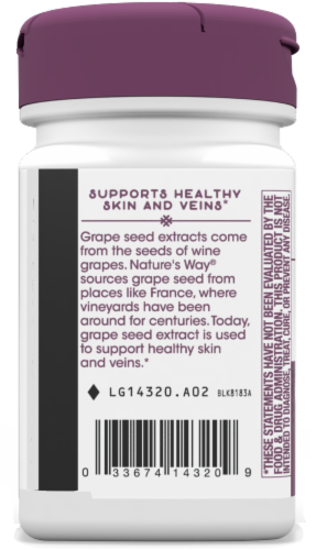 Nature's Way Grape Seed Standardized Capsules Perspective: bottom