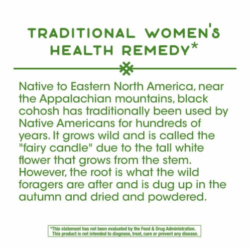 Nature's Way Black Cohosh Root Capsules 540mg Perspective: bottom