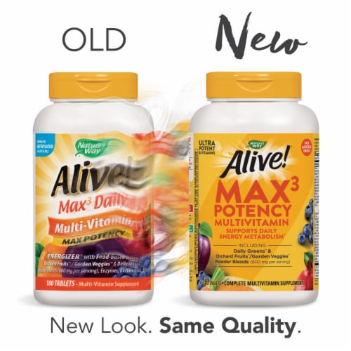 Nature's Way Alive! Iron-Free Multivitamin Max Potency Tablets Perspective: bottom