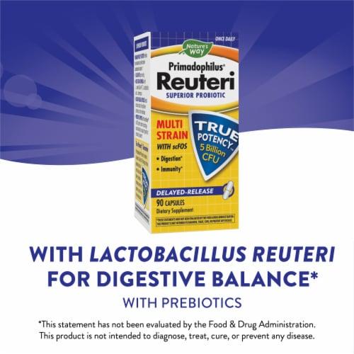 Nature's Way Primadophilus Reuteri Superior Probiotic Delyaed Release Capsules Perspective: bottom