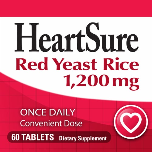 Nature's Way® Heartsure Red Yeast Rice Tablets 1200 mg Perspective: bottom