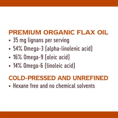 Nature's Way® Super Lignin Organic Flax Oil Perspective: bottom