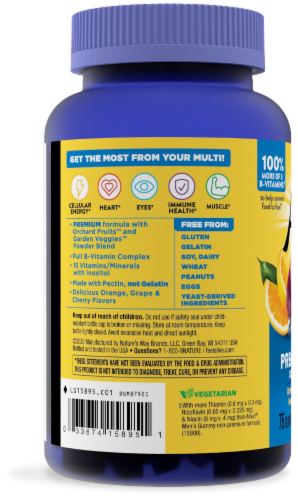 Nature's Way Alive! Men's Vitamin Gummies Perspective: bottom