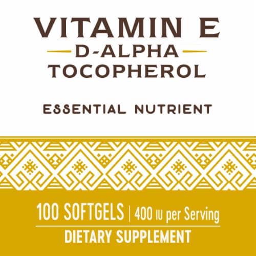 Nature's Way Vitamin E D-Alpha Tocopherol Softgels 268mg Perspective: bottom
