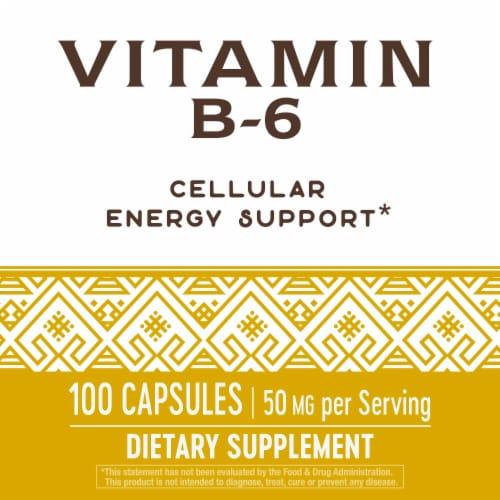 Nature's Way Vitamin B-6 Capsules Perspective: bottom