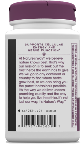 Nature's Way B-Stress Formula Capsules Perspective: bottom