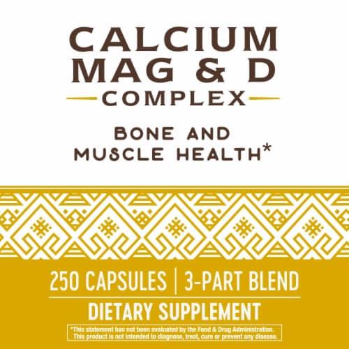 Nature's Way Calcium Magnesium & D Complex Capsules Perspective: bottom