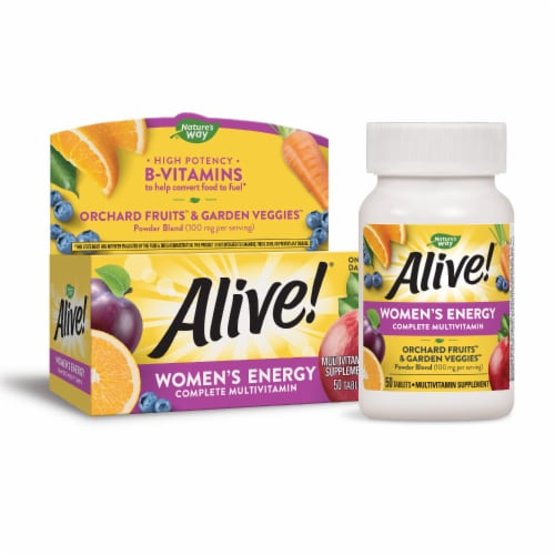 Nature's Way Alive! Women's Energy Tablets Perspective: bottom