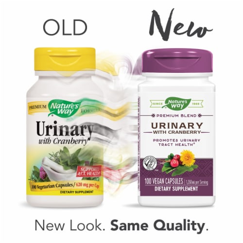 Nature's Way Urinary with Cranberry Capsules 420mg Perspective: bottom