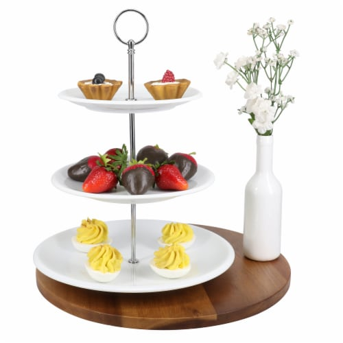 BIA Cordon Bleu 3-Tier Porcelain Cake/Serving Stand - White Perspective: bottom