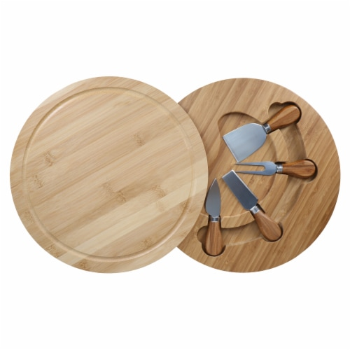 Danesco Bamboo Cheese Board and Knife Set Perspective: bottom