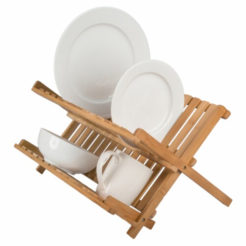 BIA Cordon Bleu Danesco Collapsible Bamboo Dish Rack Perspective: bottom