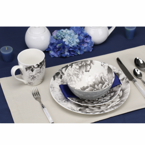 BIA Cordon Bleu Peony Dinnerware Place Set - Gray Perspective: bottom