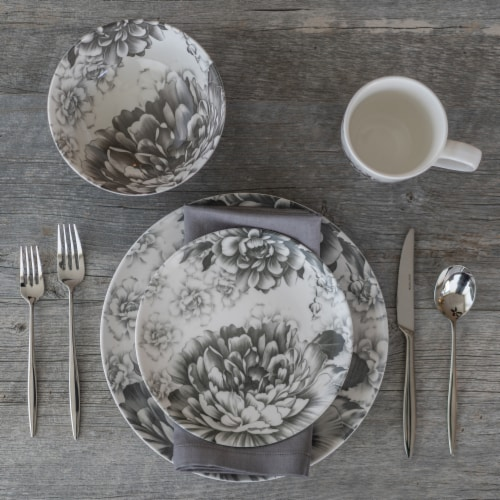 BIA Cordon Bleu Peony Dinnerware Set - Gray Perspective: bottom