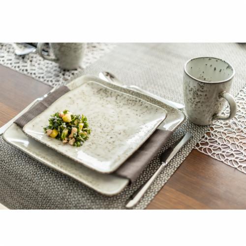 BIA Cordon Bleu Rustico Square Salad/Dessert Plate Perspective: bottom