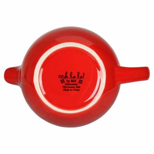 BIA Cordon Bleu Ooh La La Teapot with Stailess Steel Infuser - Red Perspective: bottom